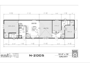 Northland Galaxy Mobile Home 22 feet wide and 76 feet long