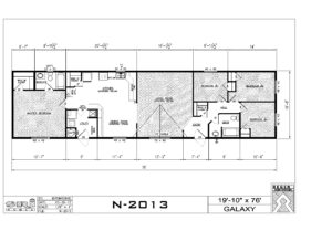 Northland Galaxy mobile home 20 feet wide and 76 feet long