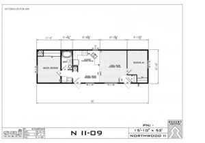 Northwood Mobile Home 16 feet wide and 52 feet long