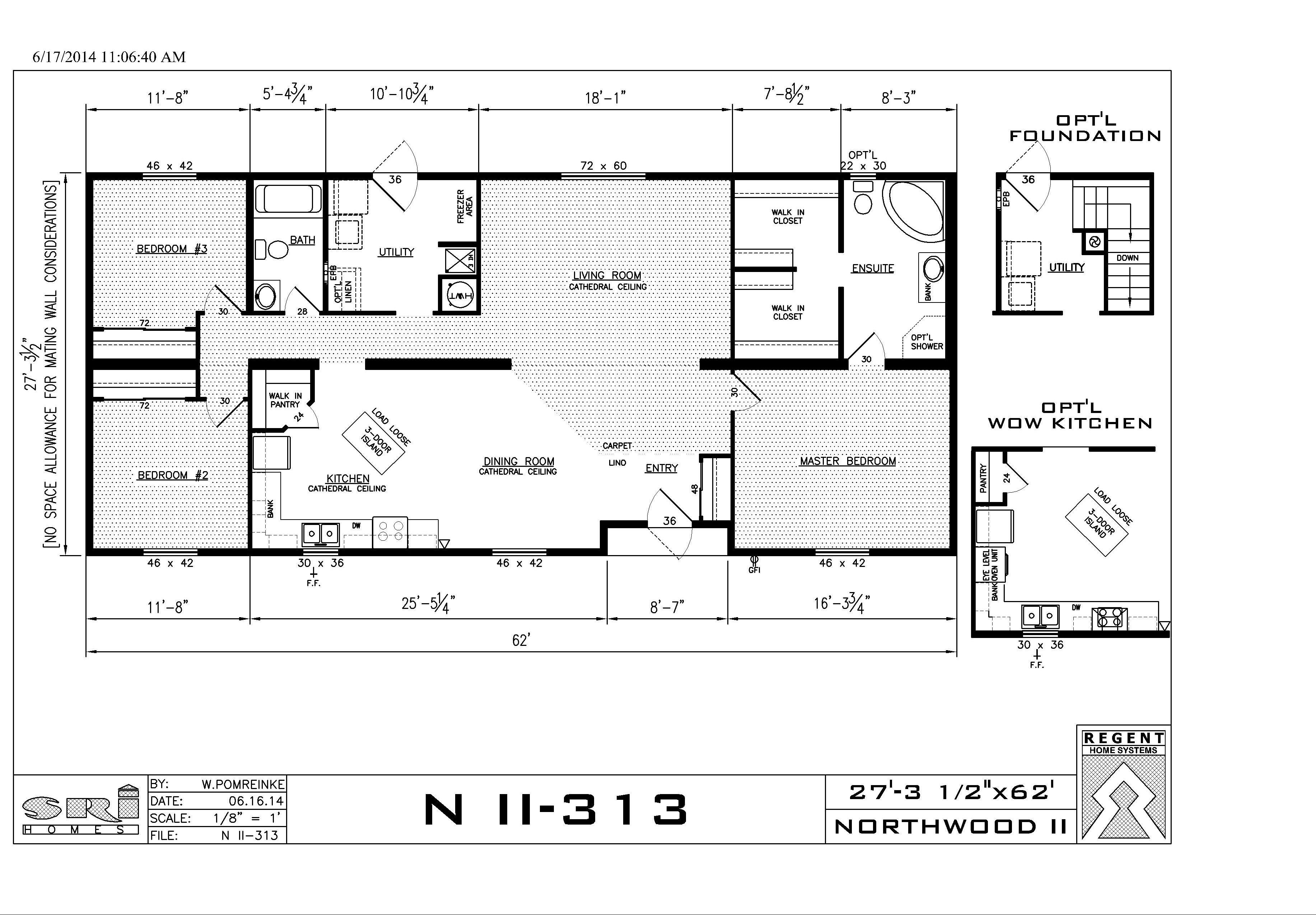 Double wide pleasant homes for Double wide floor plans with photos