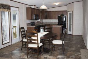 Northland Galaxy Mobile Home Dining Room & Kitchen