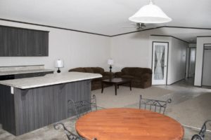 Northland Mobile Home Living and Dining Area