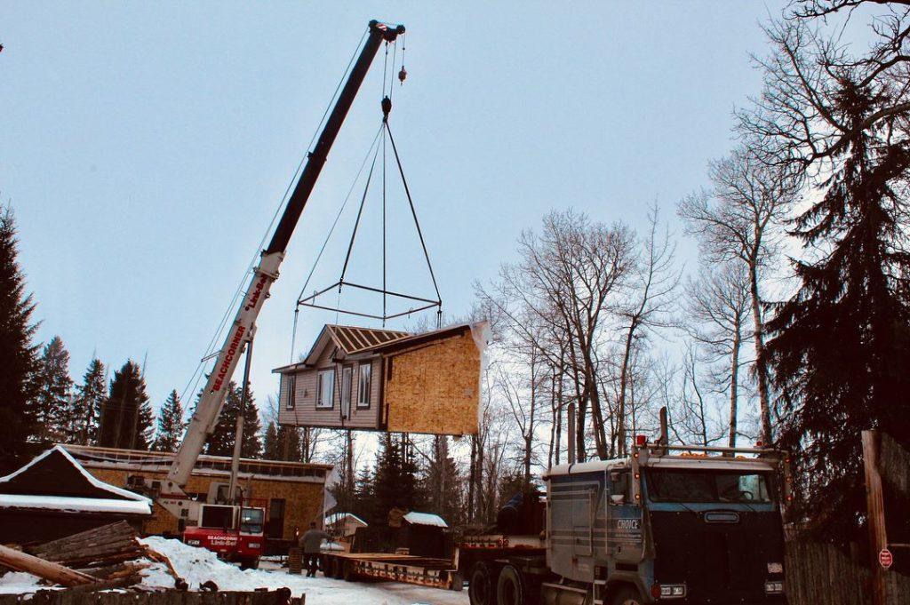 Crane on home