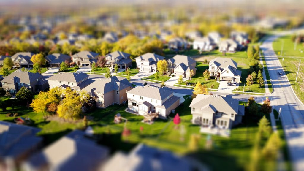 houses in a neighborhood