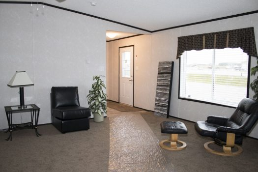 Northland Galaxy Mobile Home front entrance inside perspective